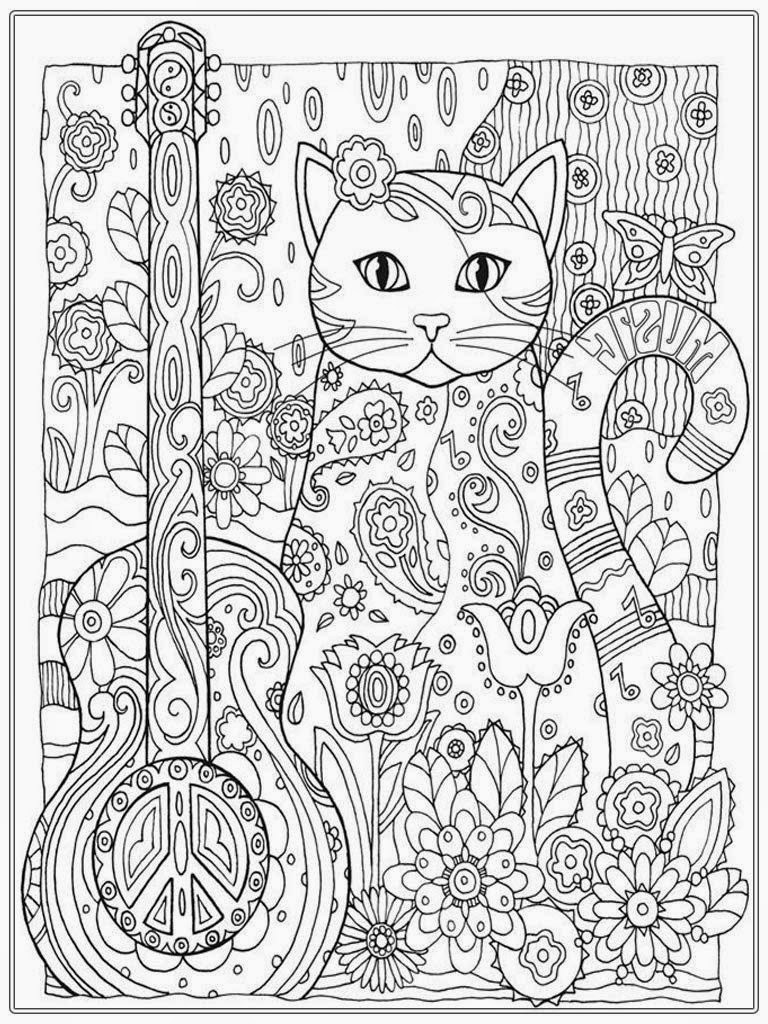 Cats Adult Coloring Book  Beautiful Coloring Pages For Adults Fairy To