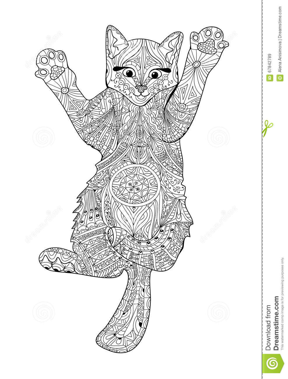 Cats Adult Coloring Book  Funny Kitten Coloring Book For Adults Zentangle Cat