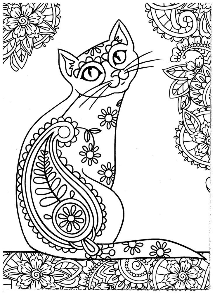 Cats Adult Coloring Book  627 best images about Adult Colouring Cats Dogs
