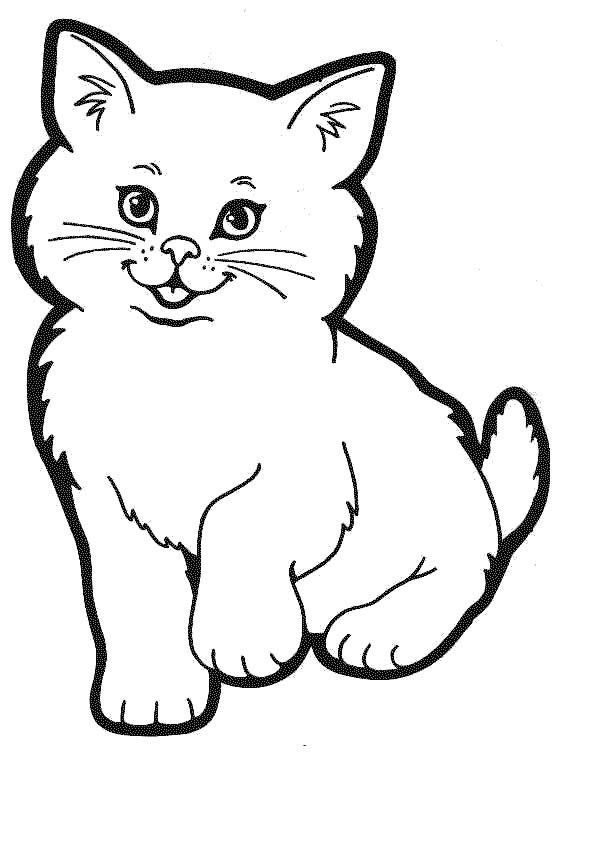 Cats Coloring Pages For Kids  Free Printable Cat Coloring Pages For Kids