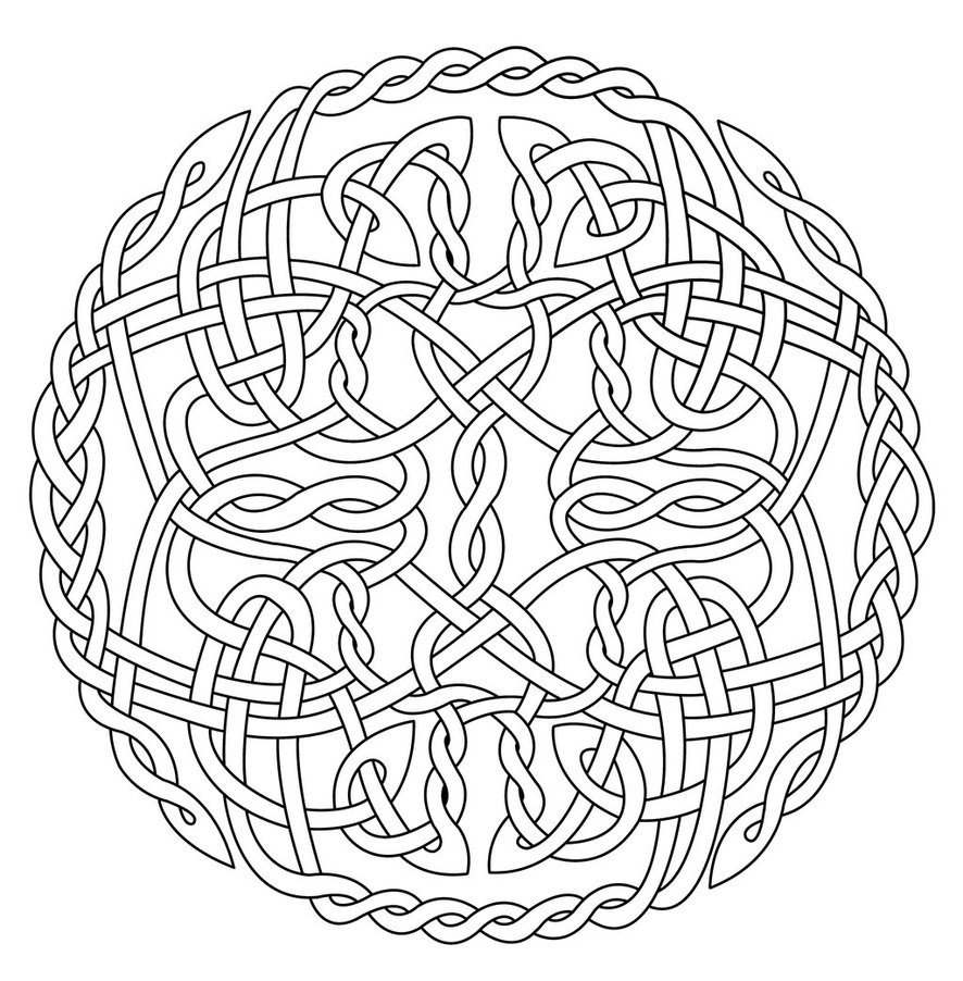 Celtic Coloring Pages For Adults  Celtic coloring pages for adults timeless miracle