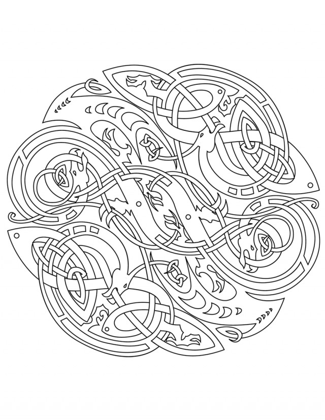 Celtic Coloring Pages For Adults  Celtic Mandala Coloring Pages Coloring Home
