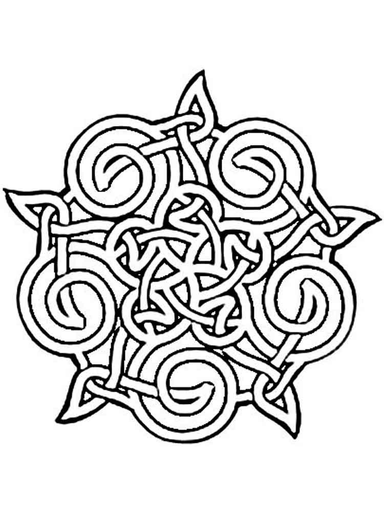 Celtic Coloring Pages For Adults  Celtic Knot coloring pages for adults Free Printable