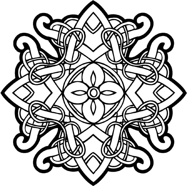 Celtic Coloring Pages For Adults  Free Printable Celtic Cross Coloring Pages ClipArt Best