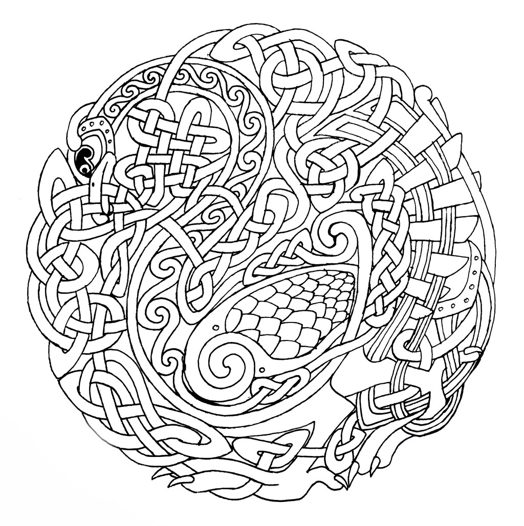 Celtic Coloring Pages For Adults  Celtic Designs Coloring Pages Bestofcoloring