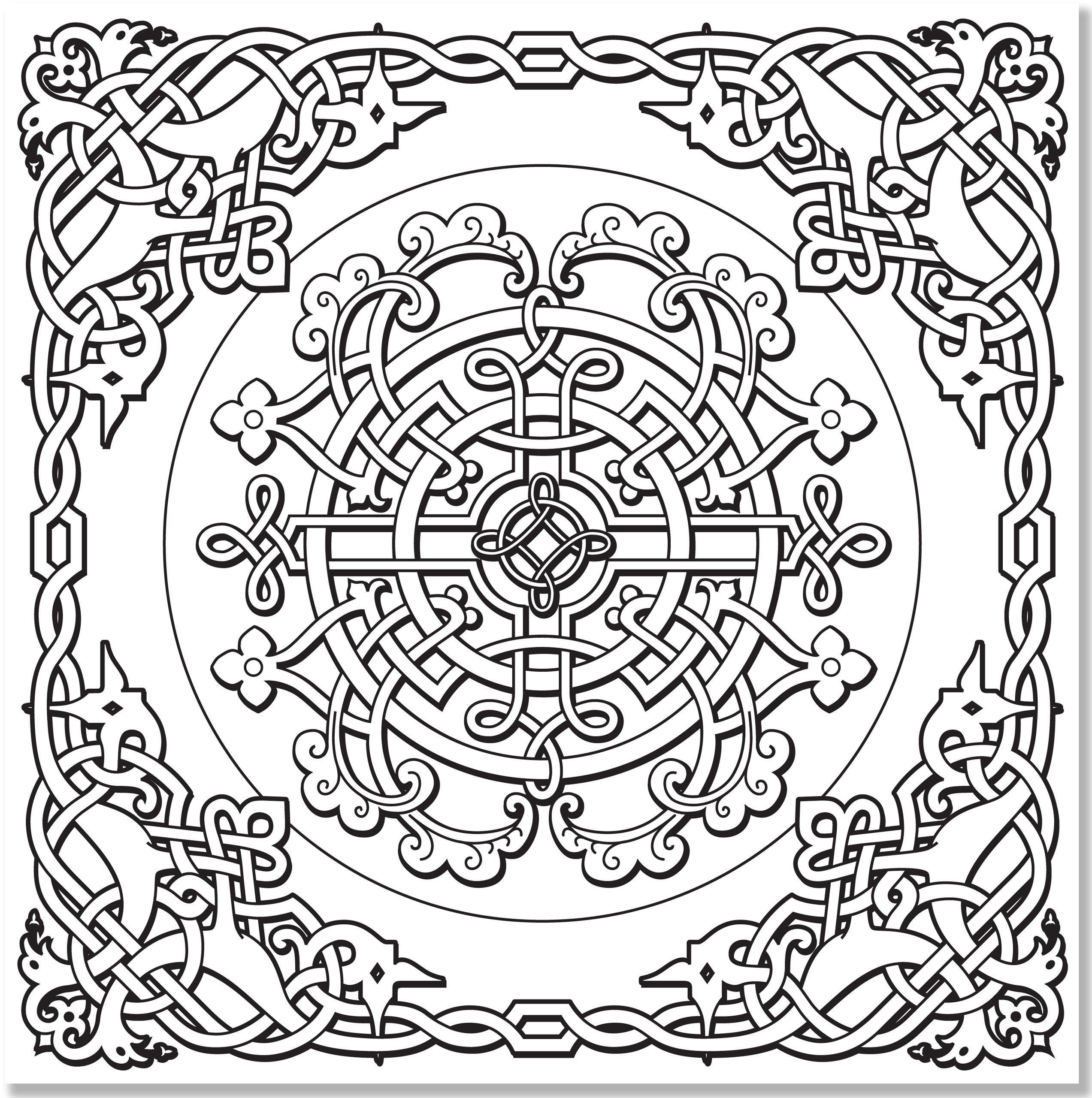 Celtic Coloring Pages For Adults  Celtic Cross Coloring Page Coloring Home