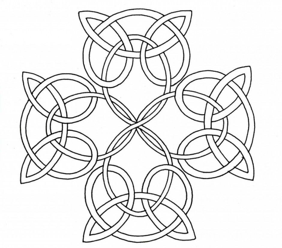 Celtic Coloring Pages For Adults  Mandala Coloring Pages For Adults Printable Free Celtic