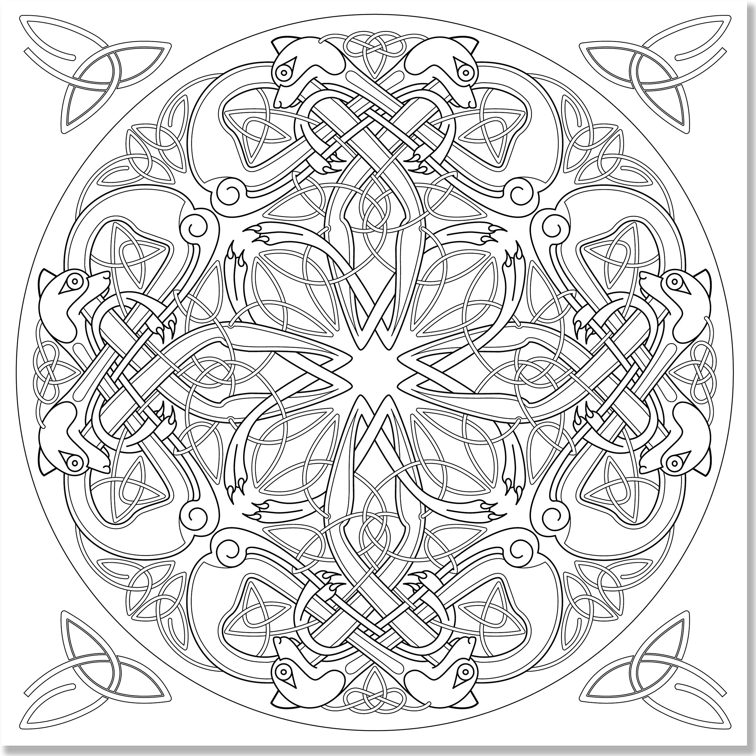 Celtic Coloring Pages For Adults  Coloring Pages Seductive Celtic Coloring Pages For Adults