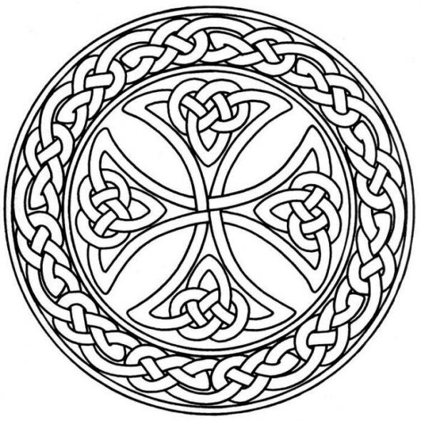 Celtic Coloring Pages For Adults  Mandala Monday Free Celtic Mandalas to Color