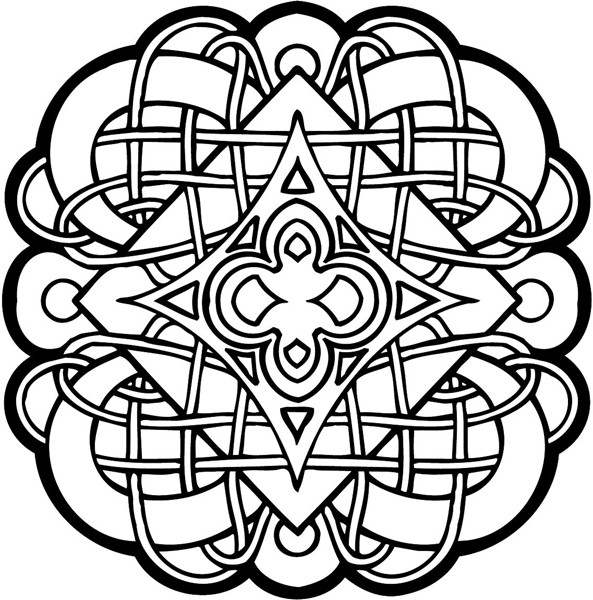 Celtic Coloring Sheets For Girls Flowers  Celtic Coloring Pages Bestofcoloring