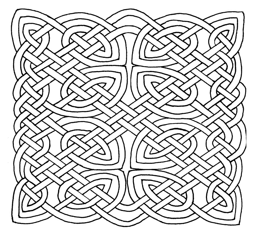 Celtic Coloring Sheets For Girls Flowers  Coloring Celtic And Flower Pages Circle Mandala Coloring
