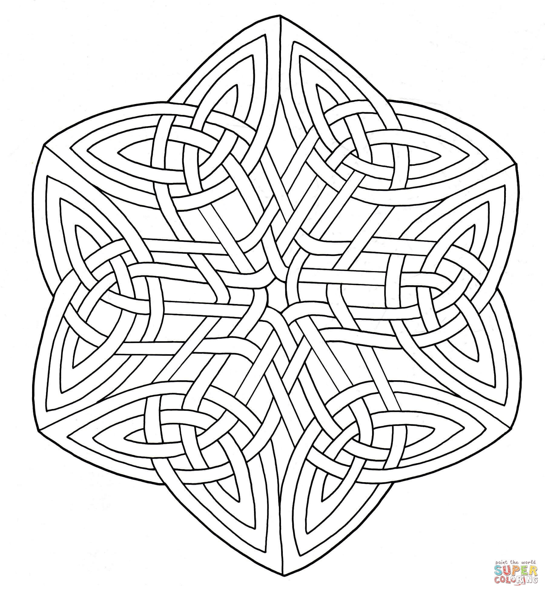 Celtic Coloring Sheets For Girls Flowers  Adult Celtic Designs Coloring Pages