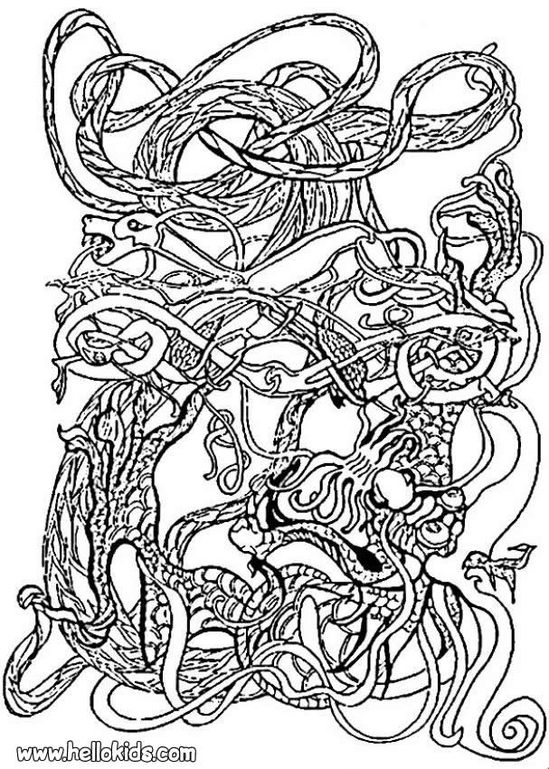 Celtic Coloring Sheets For Girls Flowers  Celtic symbol coloring pages Hellokids