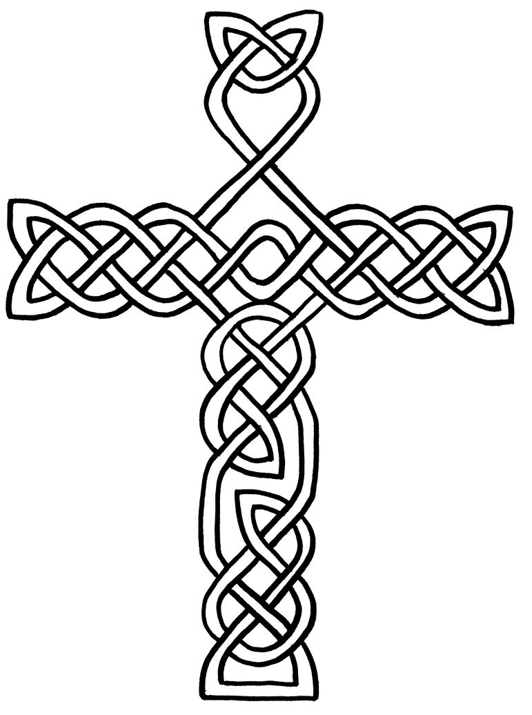 Celtic Coloring Sheets For Girls Flowers  Free Printable Celtic Cross Coloring Pages ClipArt Best