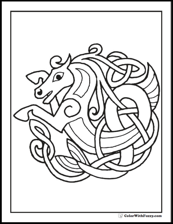 Celtic Coloring Sheets For Girls Flowers  90 Celtic Coloring Pages Irish Scottish Gaelic