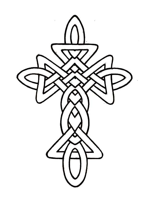 Celtic Coloring Sheets For Girls Flowers  Celtic Cross Coloring Page Coloring Home