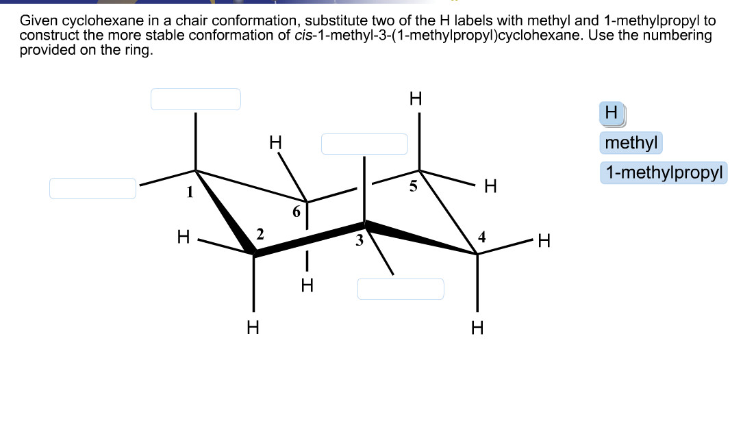 Best ideas about Chair Conformation Of Cyclohexane . Save or Pin Given Cyclohexane In A Chair Conformation Substitute Now.