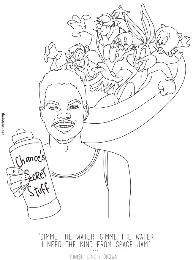 Chance The Rapper Coloring Book Lyrics  Chance The Rapper's 'Coloring Book' Is Now An Actual