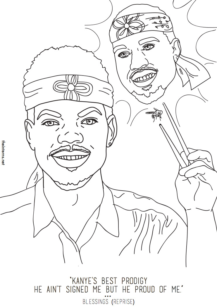Chance The Rapper The Coloring Book  Chance The Rapper s Coloring Book Inspired An Actual