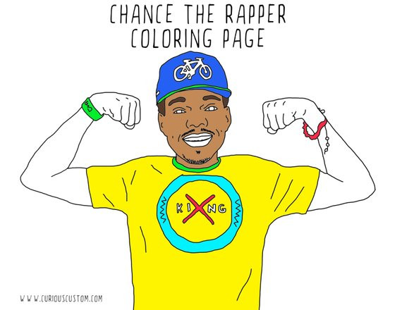 Chance The Rapper The Coloring Book  Chance The Rapper Adult Coloring Page Rapper Coloring Book