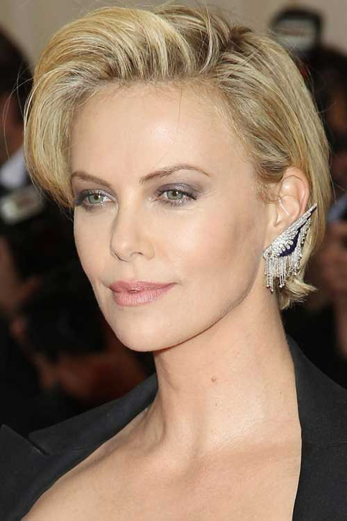 Charlize Theron Hairstyles  Female Celebrity Short Haircuts 2014 2015