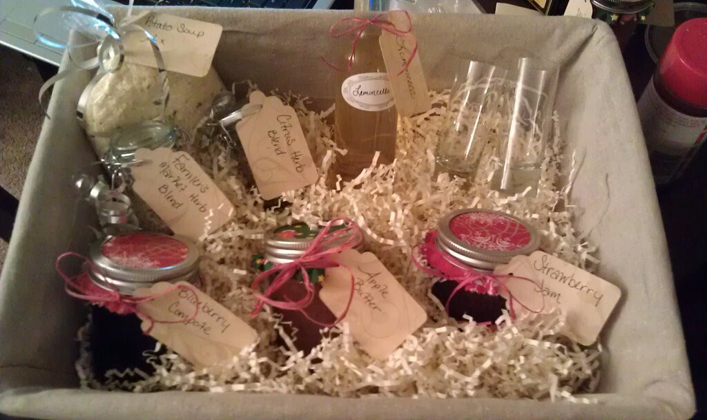 Best ideas about Cheap Homemade Gift Basket Ideas . Save or Pin Homemade Christmas Gift Basket Now.