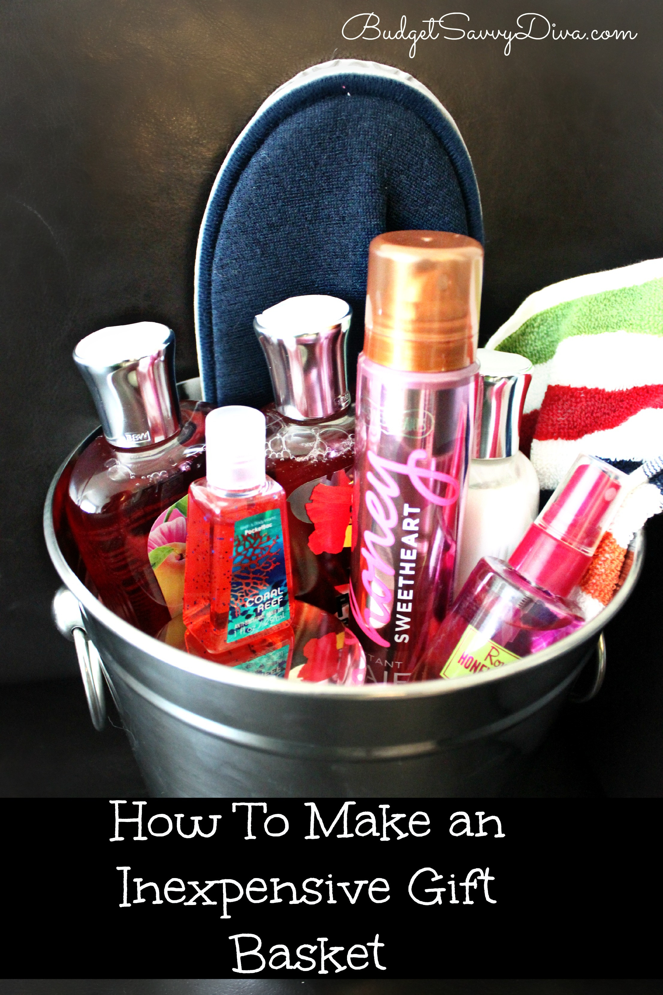 Best ideas about Cheap Homemade Gift Basket Ideas . Save or Pin How to Make an Inexpensive Gift Basket Now.