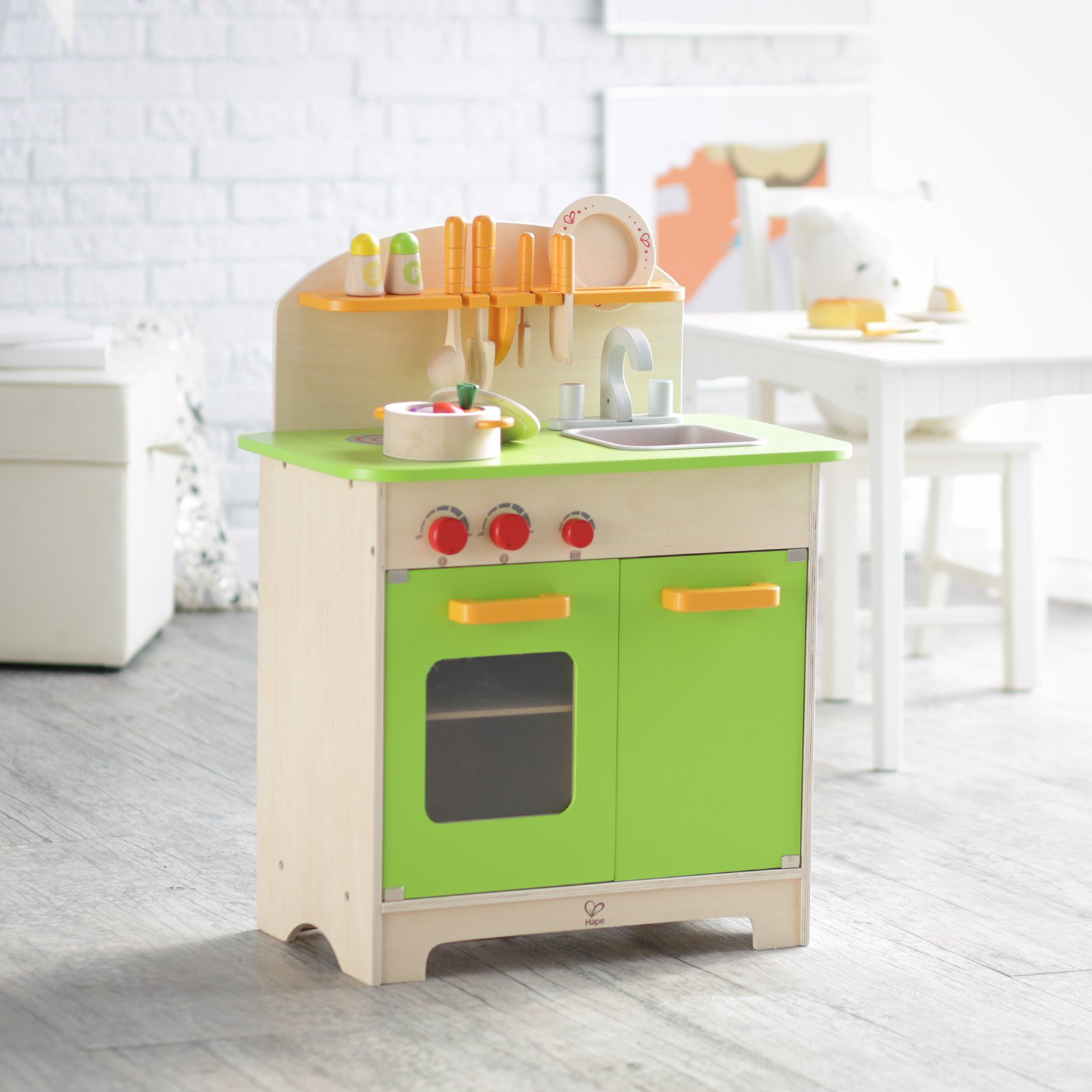 Best ideas about Chef Kitchen Decor Accessories . Save or Pin Hape Gourmet Chef Kitchen with Accessories Play Kitchens Now.