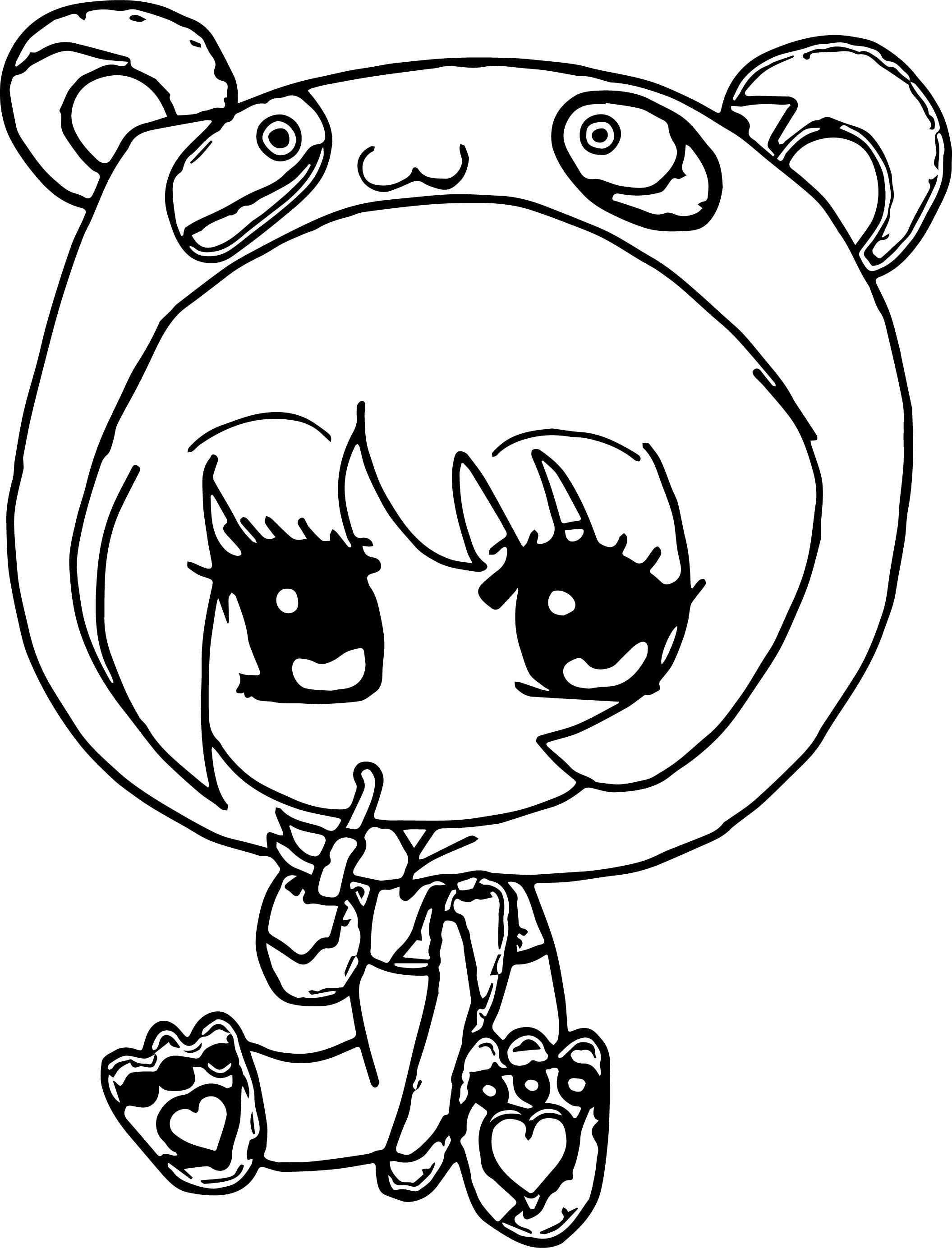 Chibi Girl Coloring Pages  Anime Chibi Girl Coloring Pages