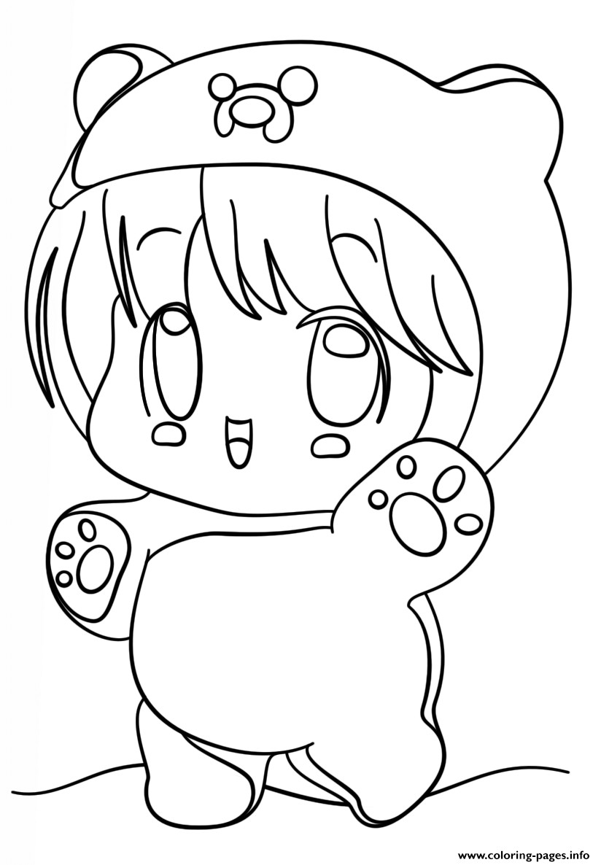 Chibi Girl Coloring Pages  Kawaii Chibi Girl Coloring Pages Printable