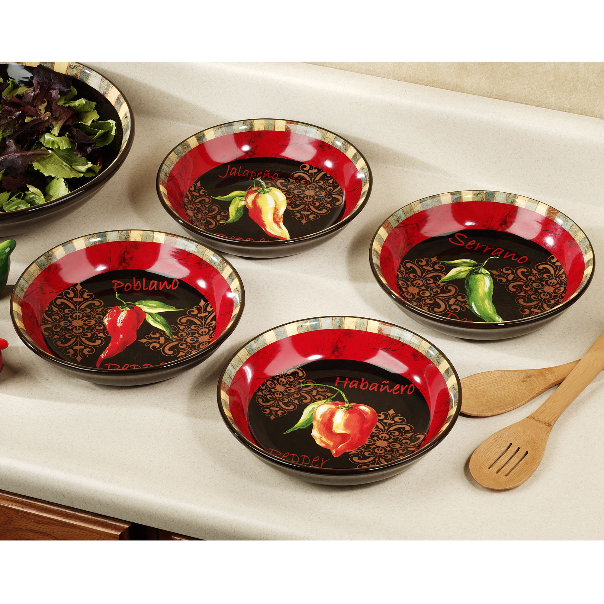 Best ideas about Chili Pepper Kitchen Decor . Save or Pin Chili pepper kitchen towels Now.