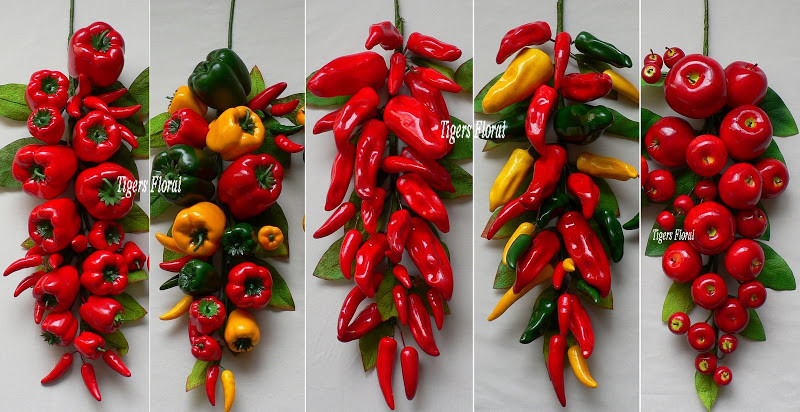Best ideas about Chili Pepper Kitchen Decor . Save or Pin red chili pepper swag kitchen restaurant decor Now.