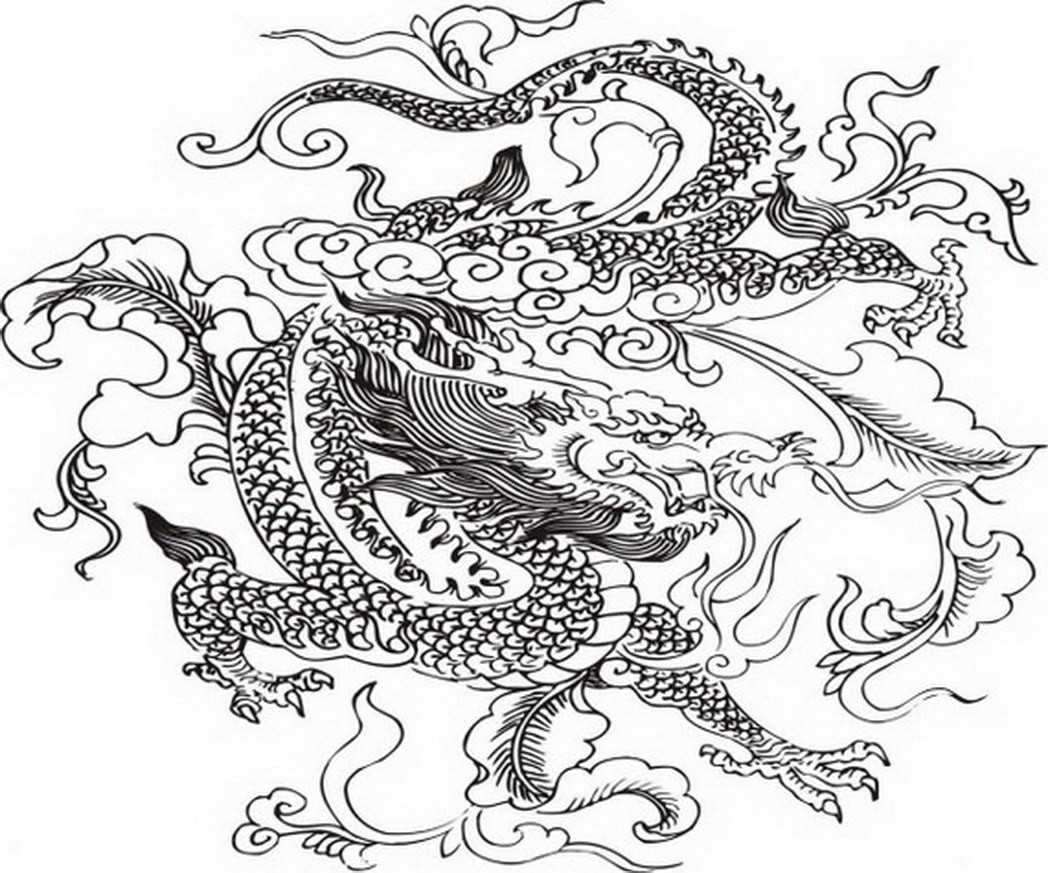 Chinese Dragons Coloring Pages  Dragon Coloring Pages Bestofcoloring