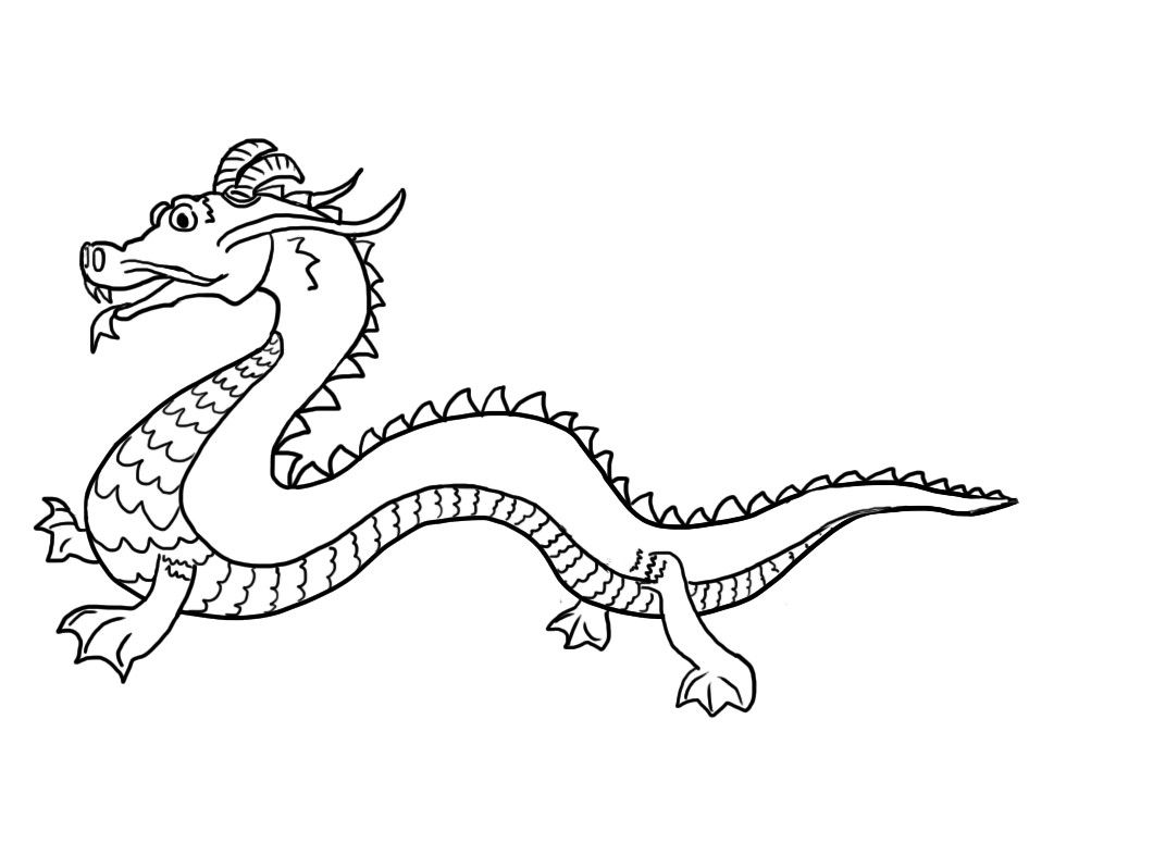 Chinese Dragons Coloring Pages  Free Printable Chinese Dragon Coloring Pages For Kids