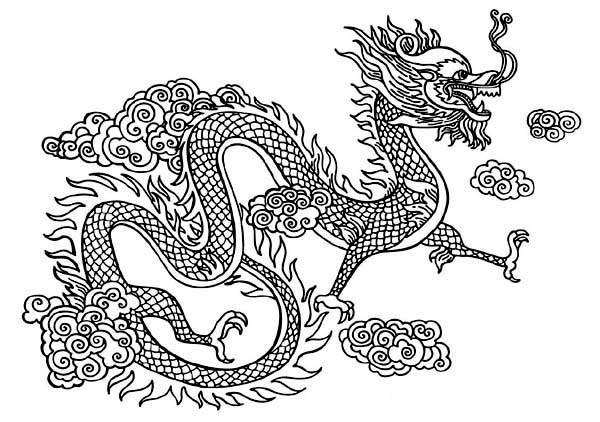 Chinese Dragons Coloring Pages  Mythological Dragons 35 Dragon coloring pages and pictures