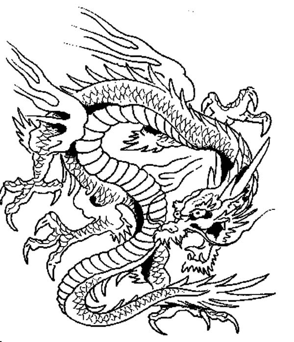 Chinese Dragons Coloring Pages  Chinese Dragon coloring Download Chinese Dragon coloring