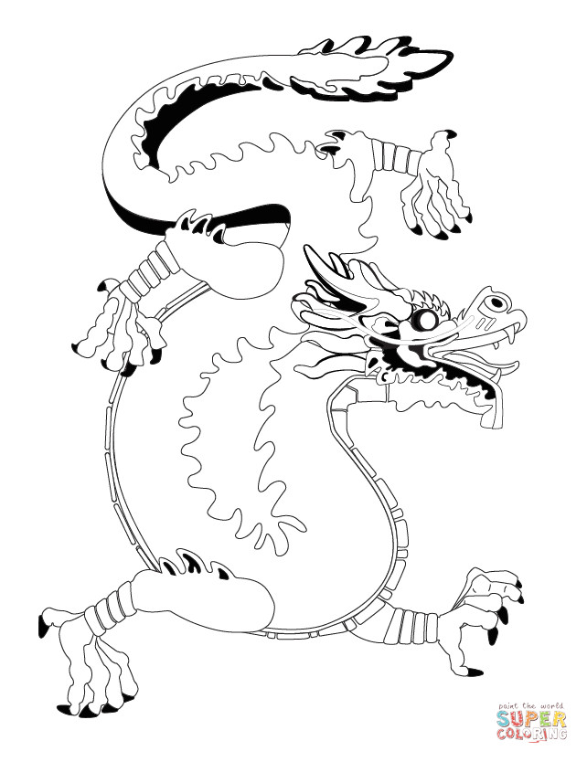 Chinese Dragons Coloring Pages  Chinese Dragon coloring page