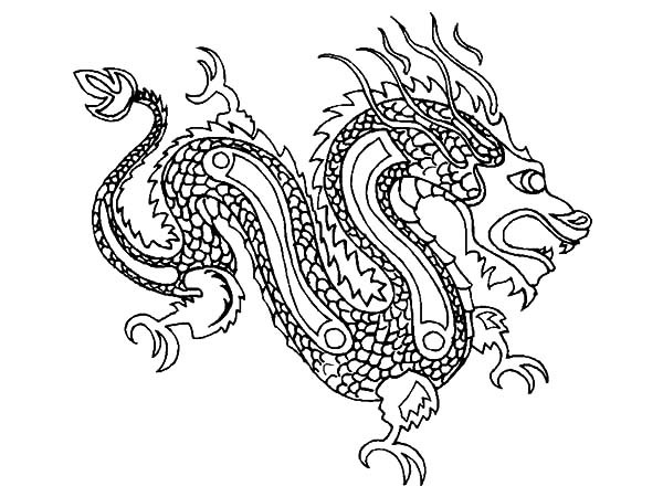 Chinese Dragons Coloring Pages  Chinese Dragon