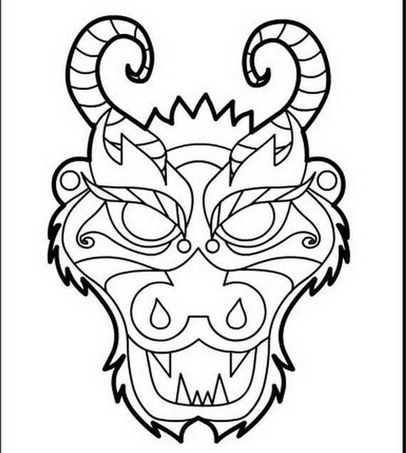 Chinese Dragons Coloring Pages  Chinese Dragon Boat Festival Coloring Pages family
