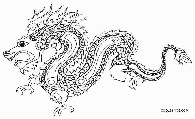 Chinese Dragons Coloring Pages  Printable Dragon Coloring Pages For Kids