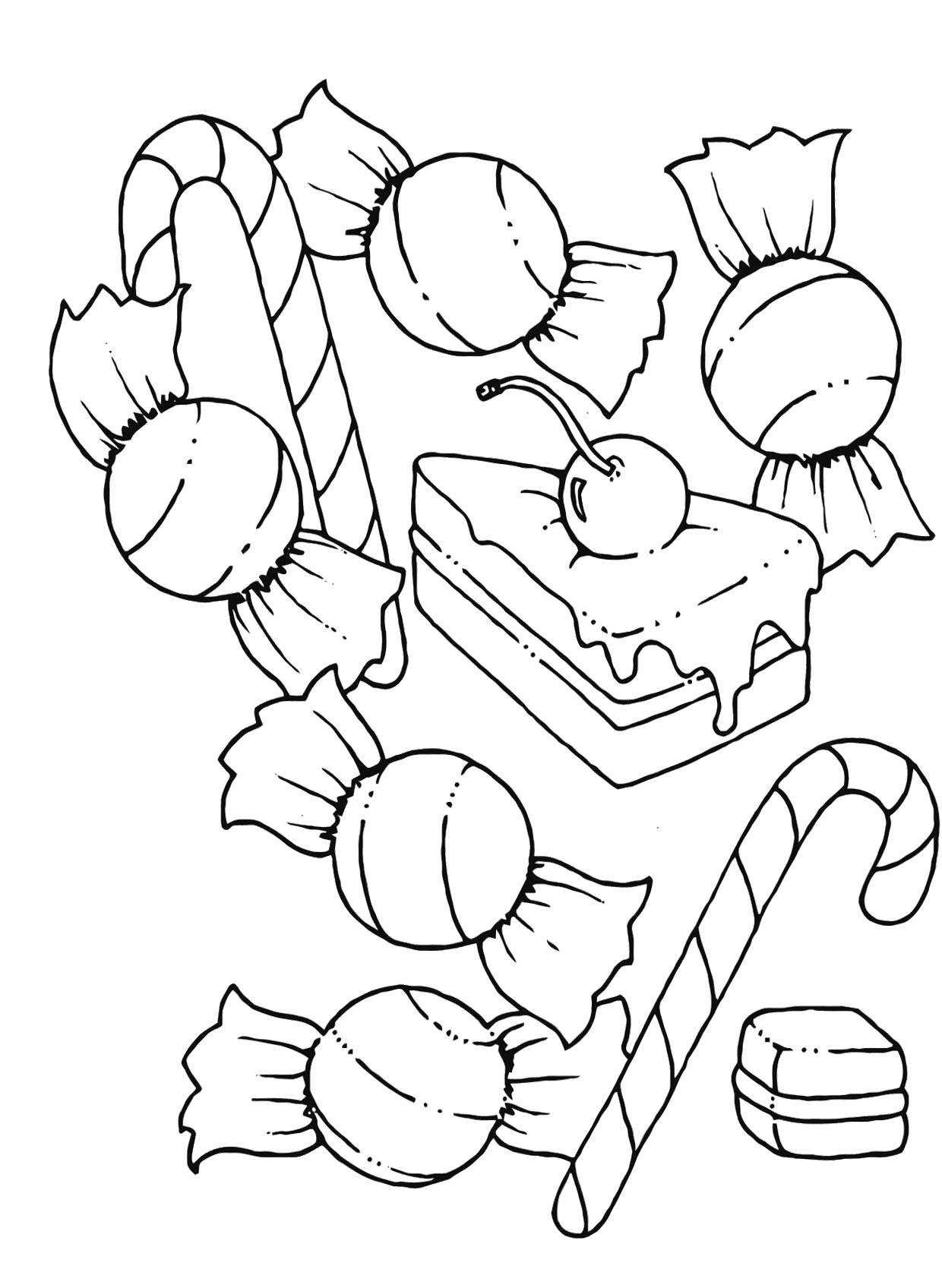 Chocolate Coloring Pages  Candy Coloring Pages Bestofcoloring