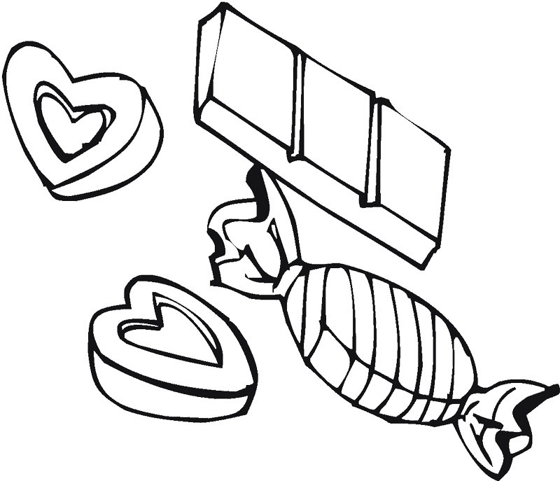 Chocolate Coloring Pages  Valentine Chocolate Coloring Pages Bestofcoloring