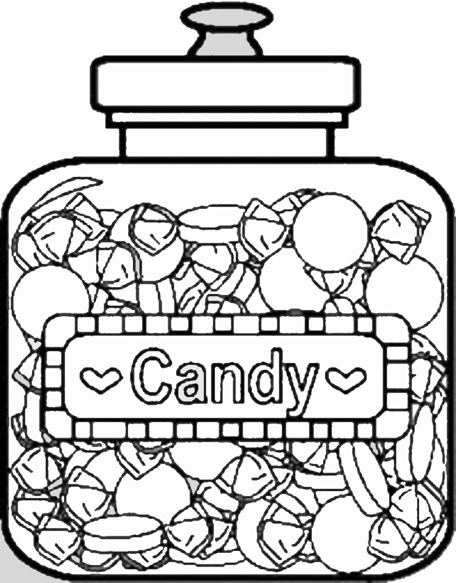 Chocolate Coloring Pages  Sweets and Candy Coloring Pages