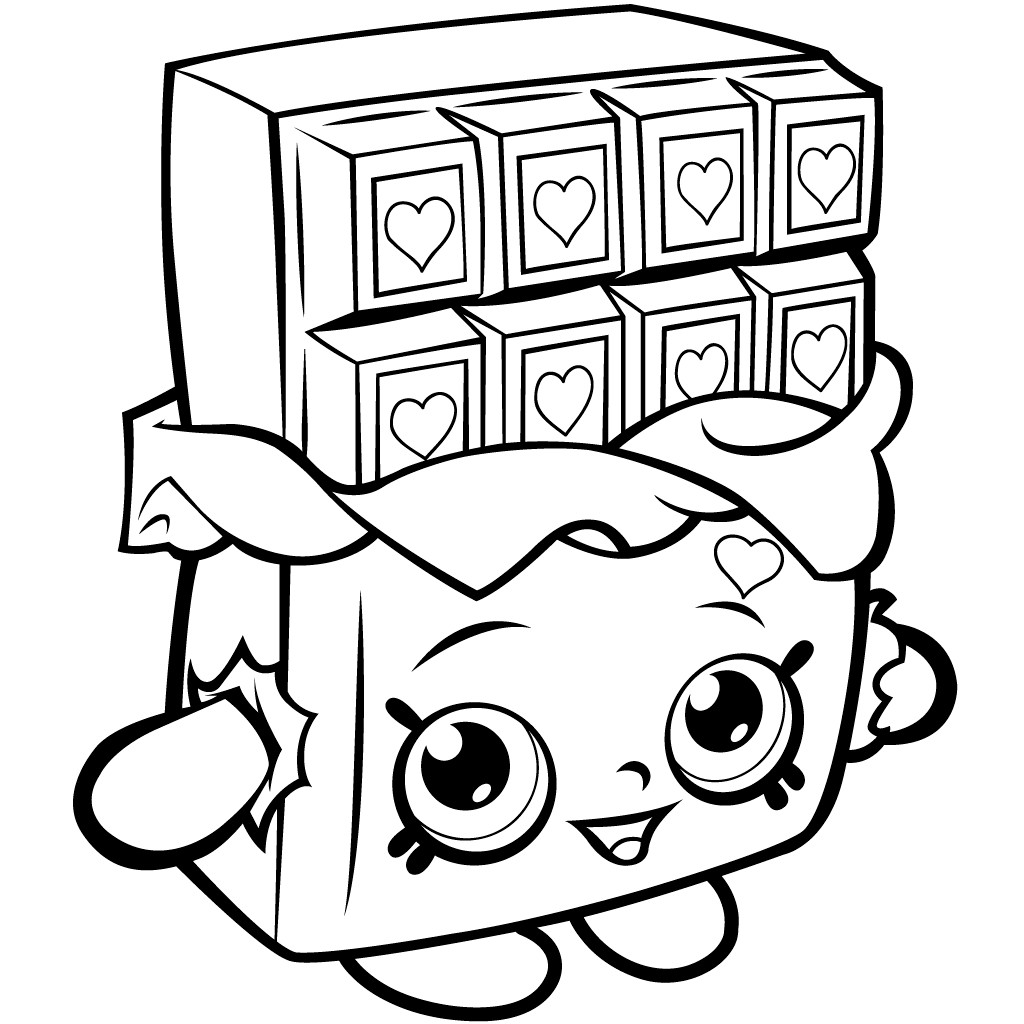 Chocolate Coloring Pages  40 Printable Shopkins Coloring Pages