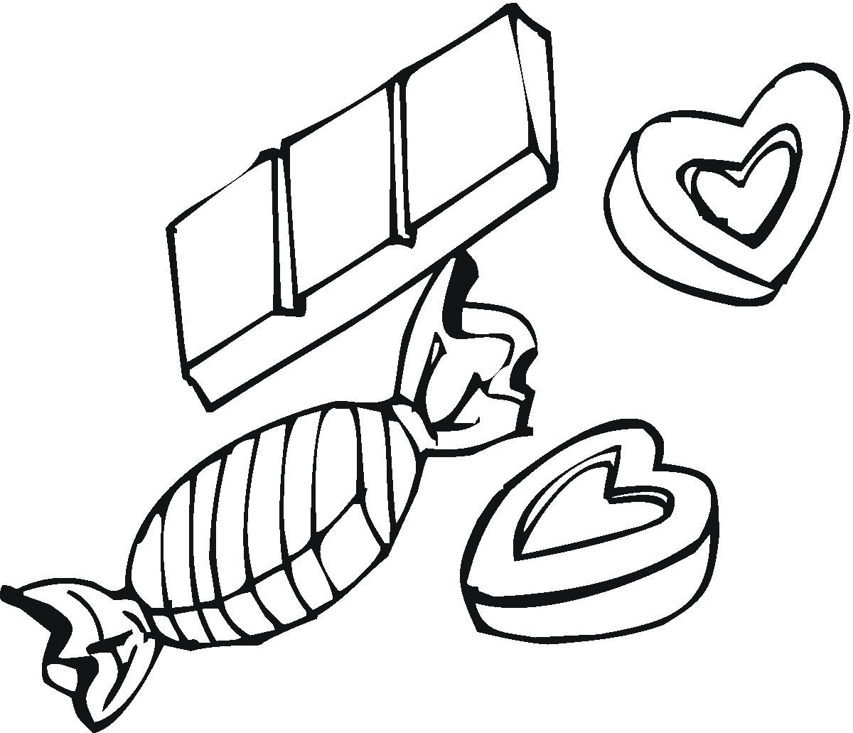 Chocolate Coloring Pages  Candy Love Box Coloring Pages