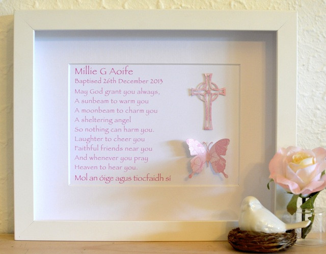 Christening Gift Ideas For Baby Girl  Gift Ideas For A Baby Girl Baptism 1 Wall Decal