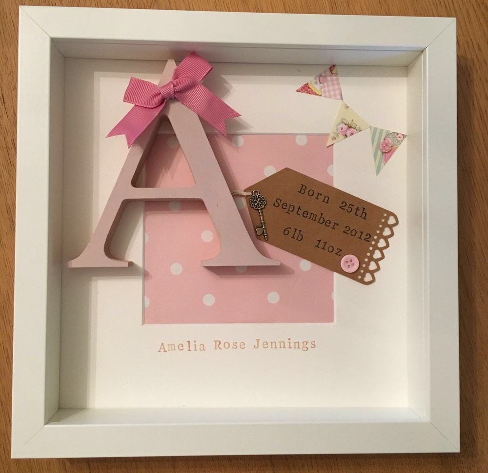 Christening Gift Ideas For Baby Girl  Personalised New Baby Birth Christening Boy & Girl