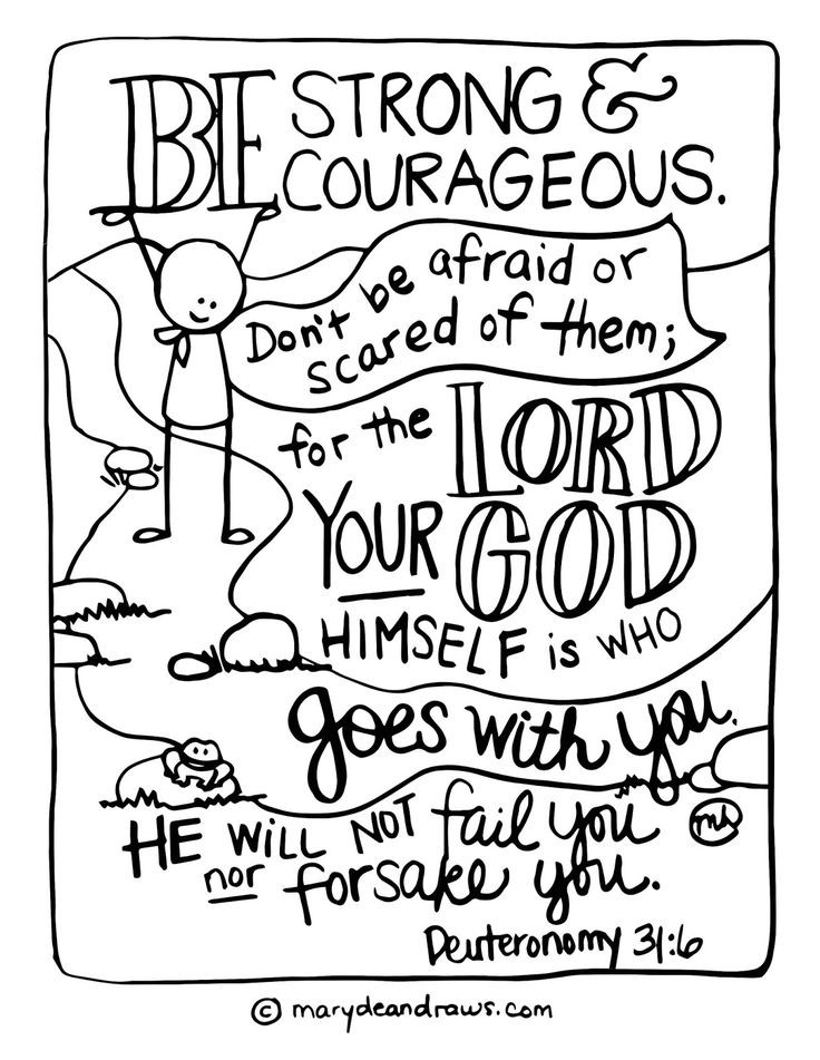 Christian Coloring Sheets For Kids God Is With You When You'Re Scared  Best 25 Deuteronomy 31 ideas only on Pinterest