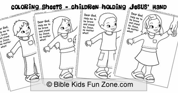 Christian Coloring Sheets For Kids God Is With You When You'Re Scared  Christian Easter Resurrection Sunday School Lessons