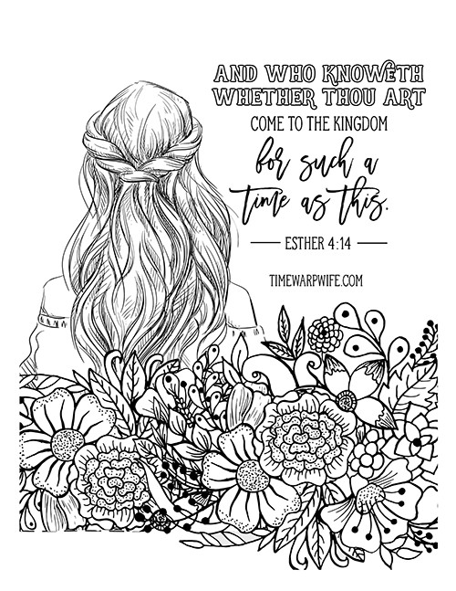 Christian Printable Coloring Sheets For Girls  Esther Bible Study Week 2 Part 1 Printable Resources